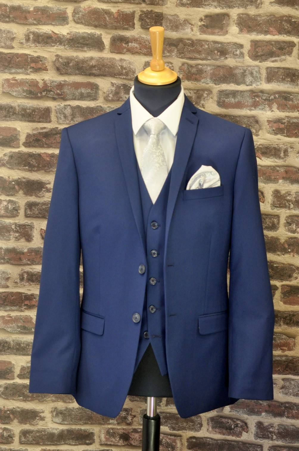 Collar & Cuff Navy Mix n Match Suit