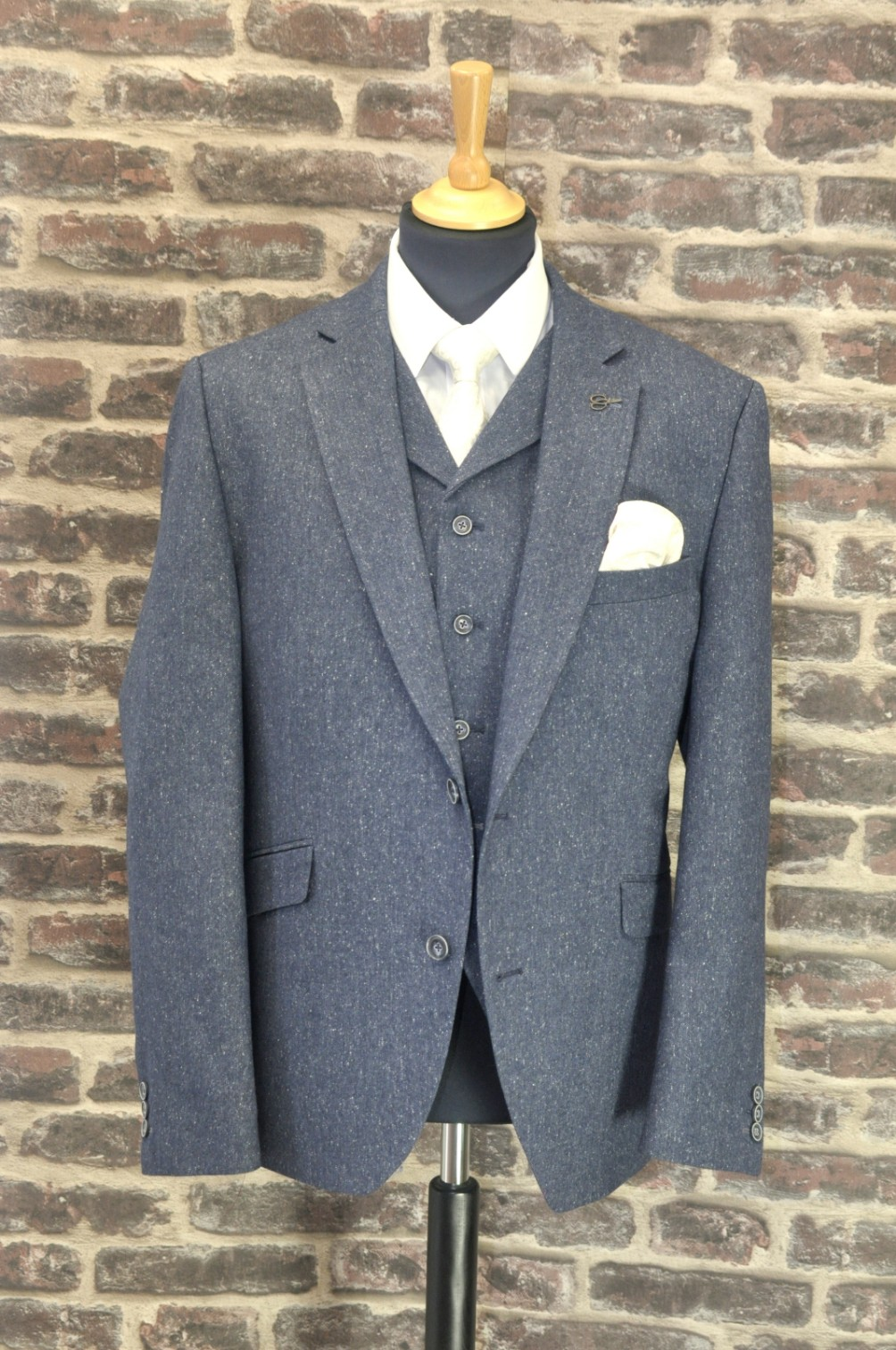 Gibson Navy Tweed Mix n Match Suit