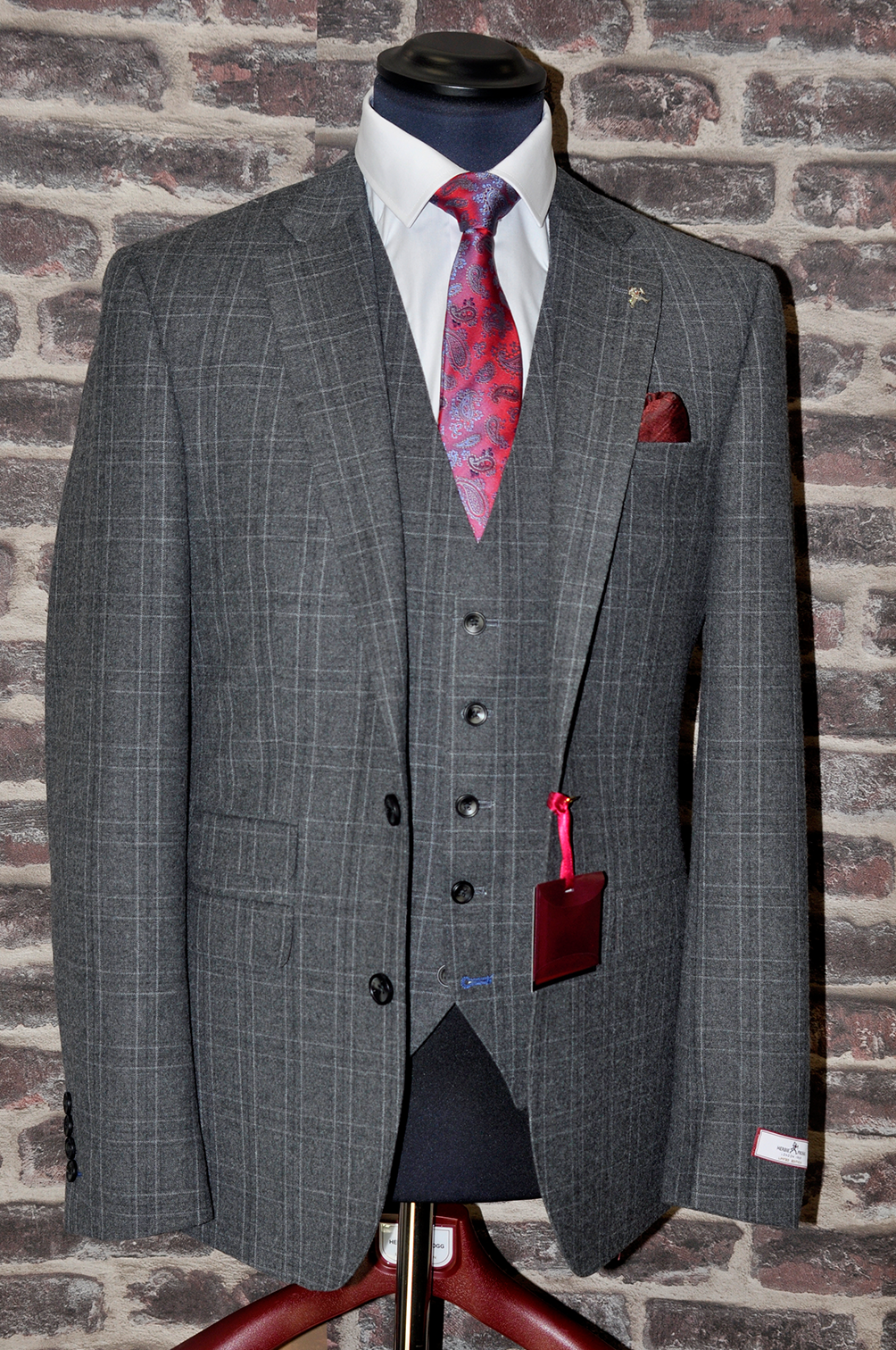 Grey Check Herbie Frogg – 3 Piece Suit